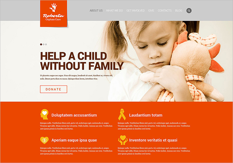 Charity Responsive HTML Website Template