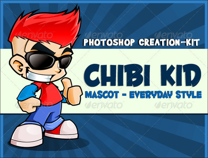 Chibi Kid Mascot Template