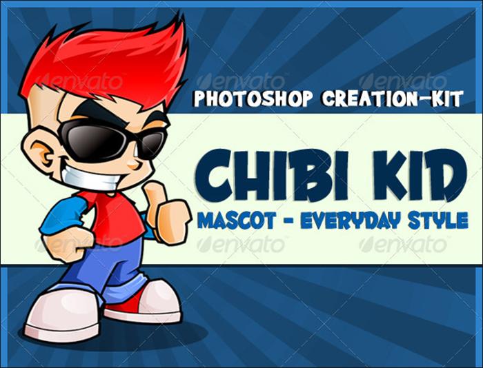 Chibi Kid Mascot Template