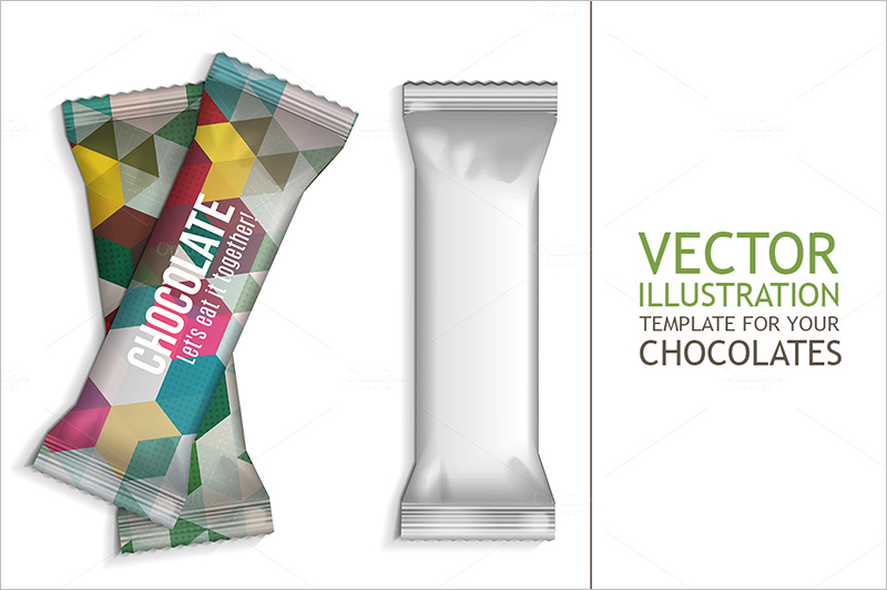 Chocolate Wrapper Template Photoshop