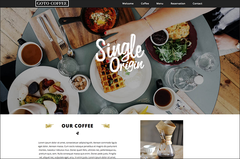 Coffee Industry Responsive Parallax HTML Template