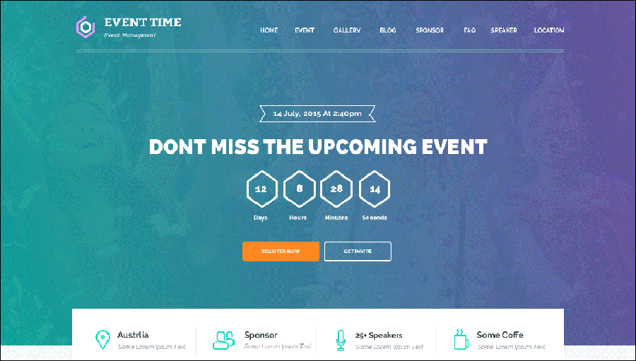 Conference & Event HTML Theme
