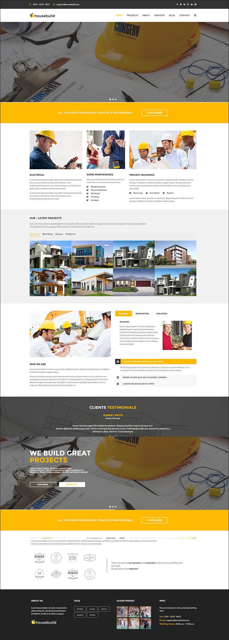 Construction Drupal Theme With Unlimited Colors