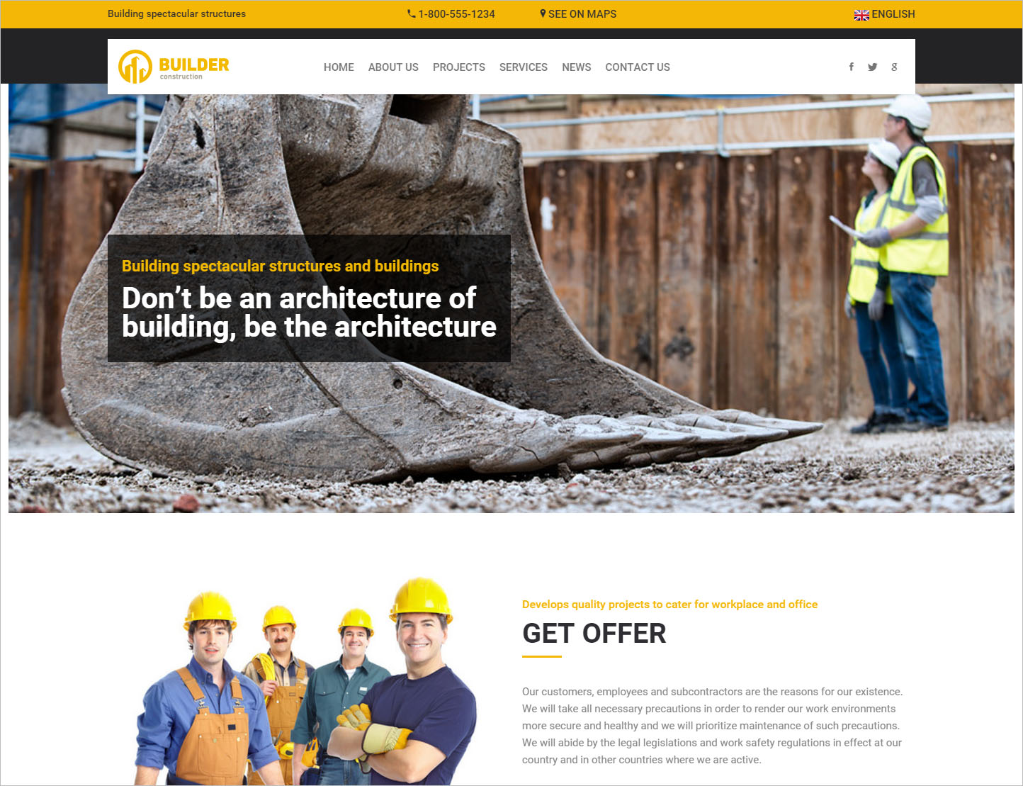 Construction HTML Theme
