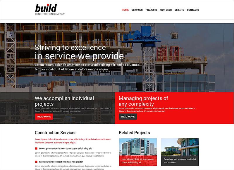 Construction Joomla Template Download