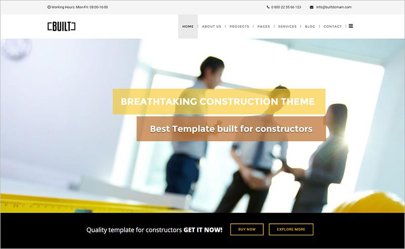 Construction Joomla Website Template