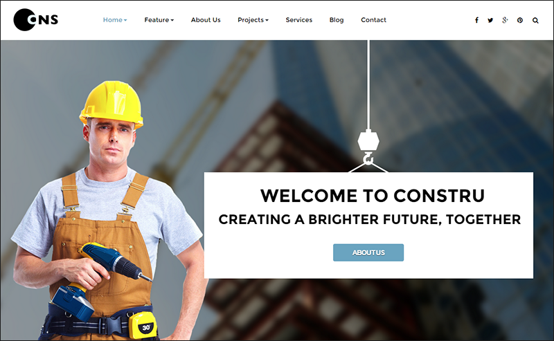 Construction Parallax Joomla Template