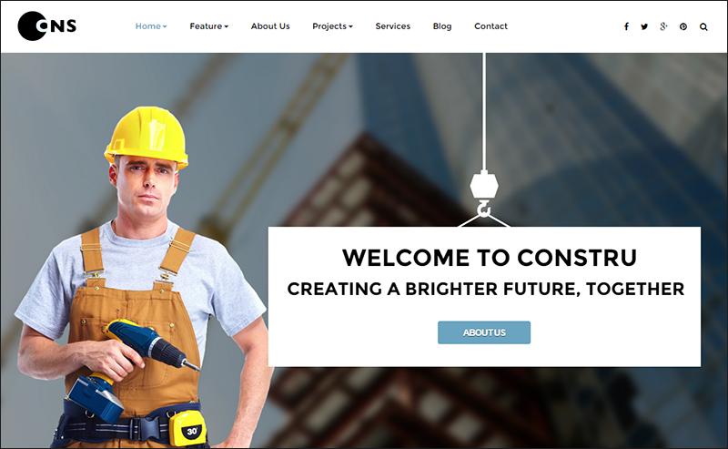 Construction Parallax Joomla Template