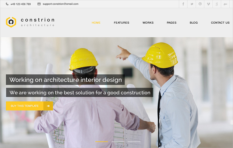 Construction and Builder HTML Template