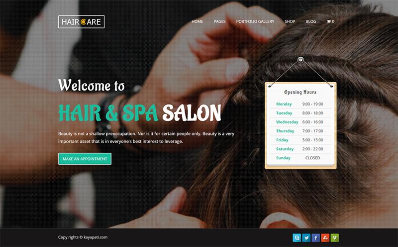 Creative Hair Salon WordPress Theme