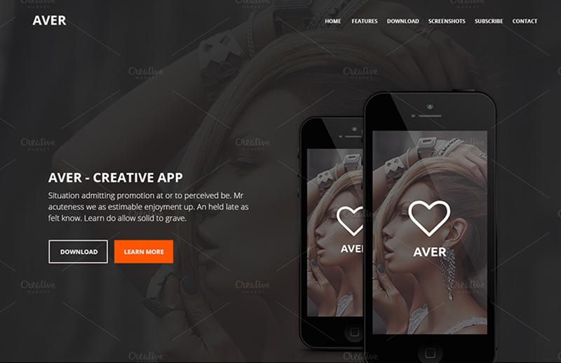 Creative PSD Landing Page Theme