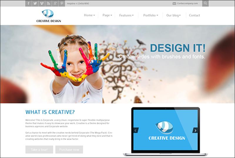 Creative Parallax Joomla Template