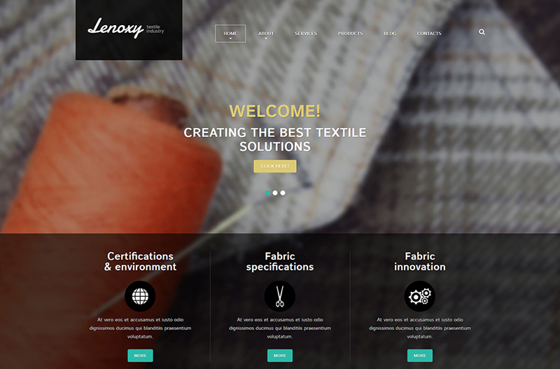 Customizable Textile Industry Joomla Template