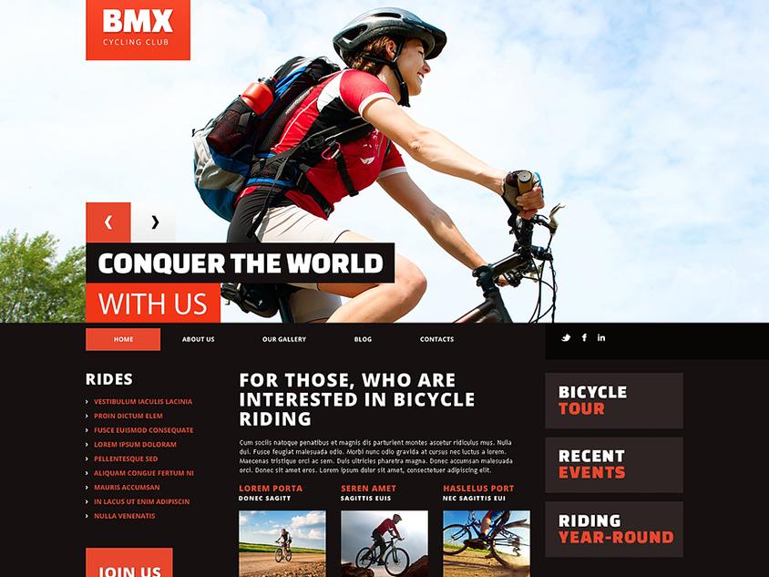 Cycling Club Blog WordPress Theme