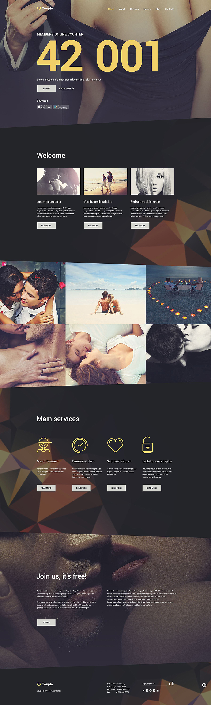 Dating & Marriage Agencies Joomla Template