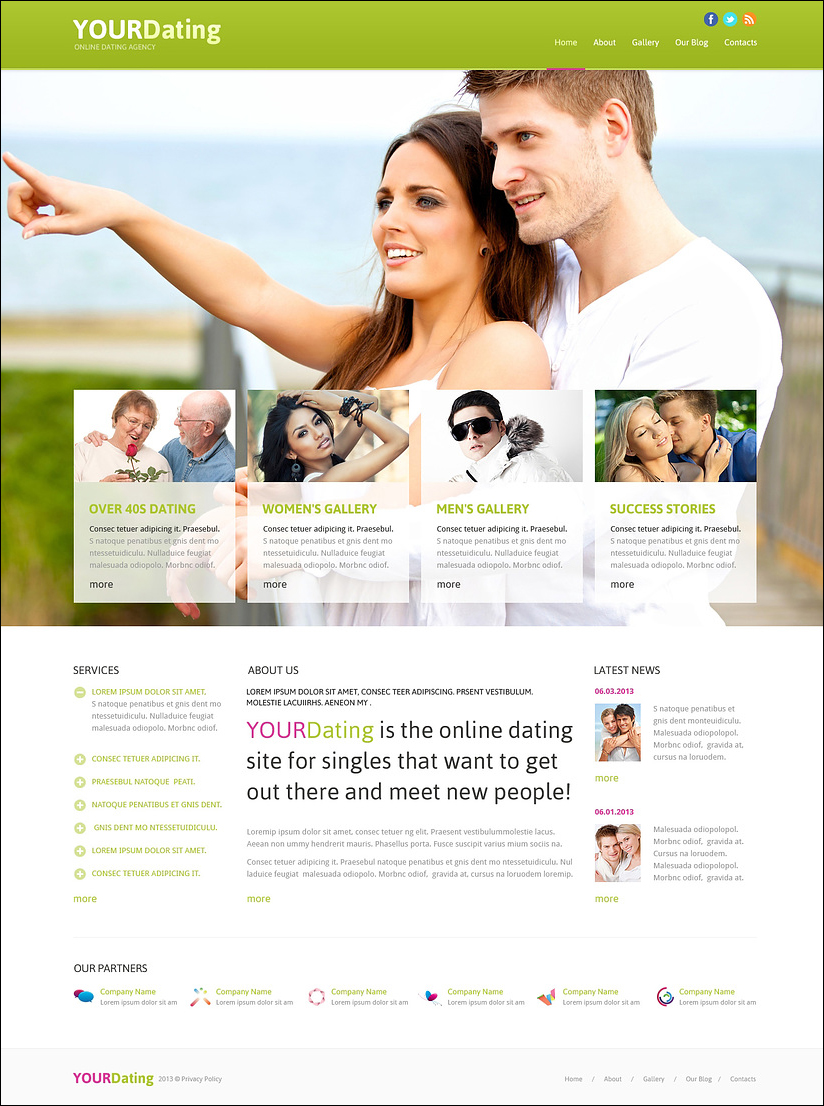 Dating Responsive Joomla Theme