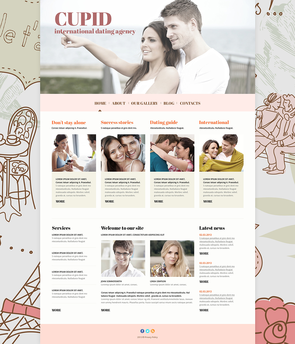 Dating Responsive Joomla Website Template