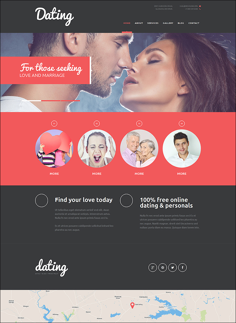 Dating & Social Joomla Template