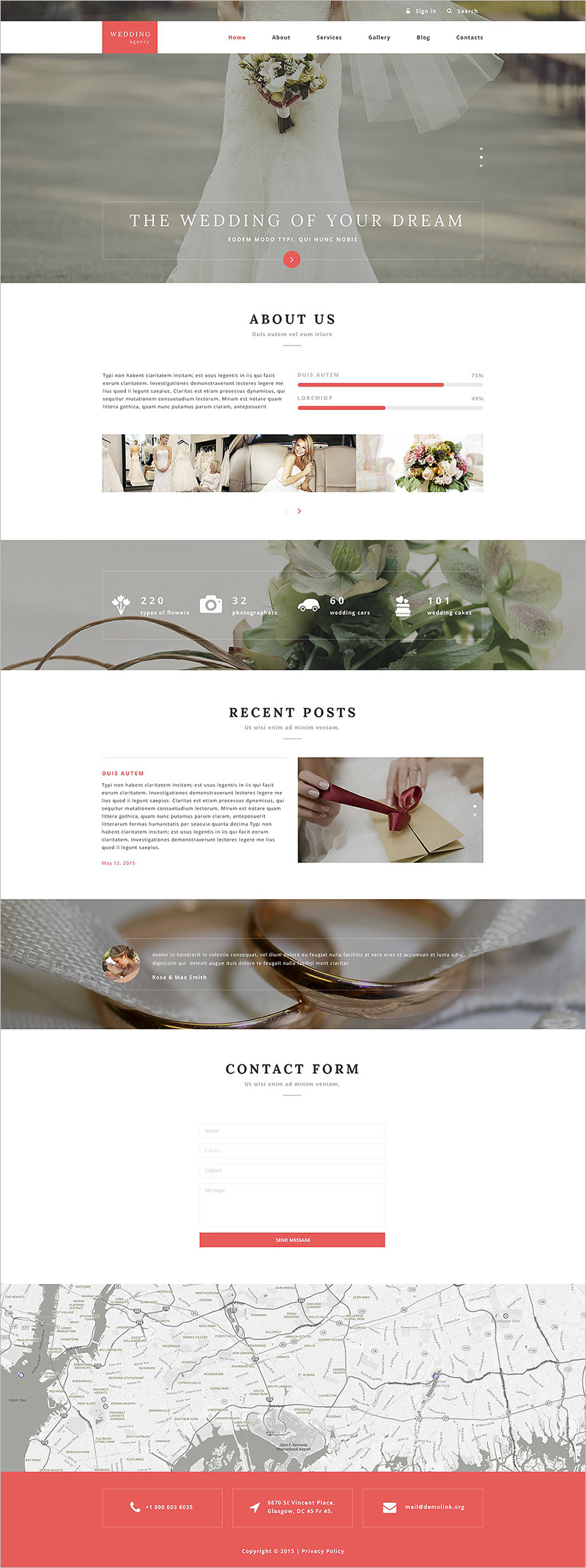 Dating and Wedding Drupal Template