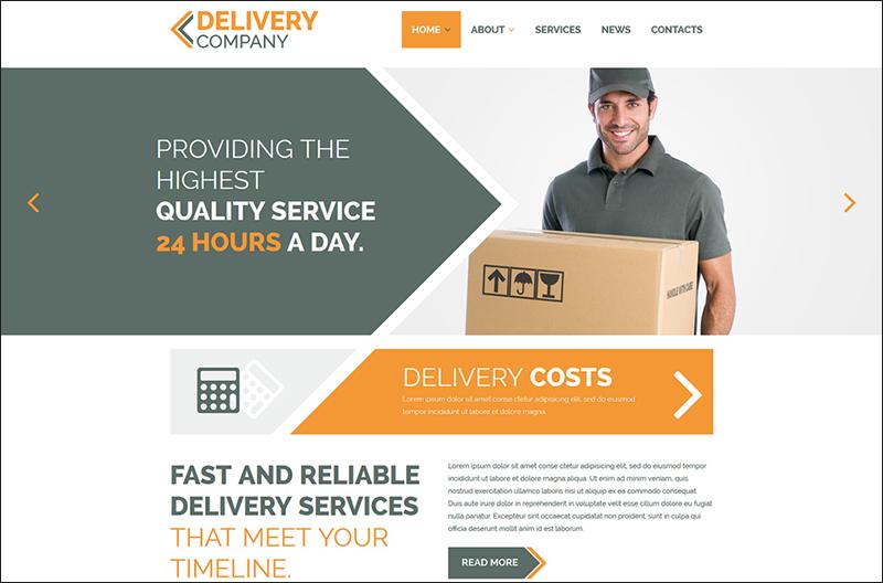 Delivery Company Parallax Joomla Template