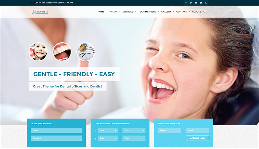 Dental & Medical One Page HTML Template