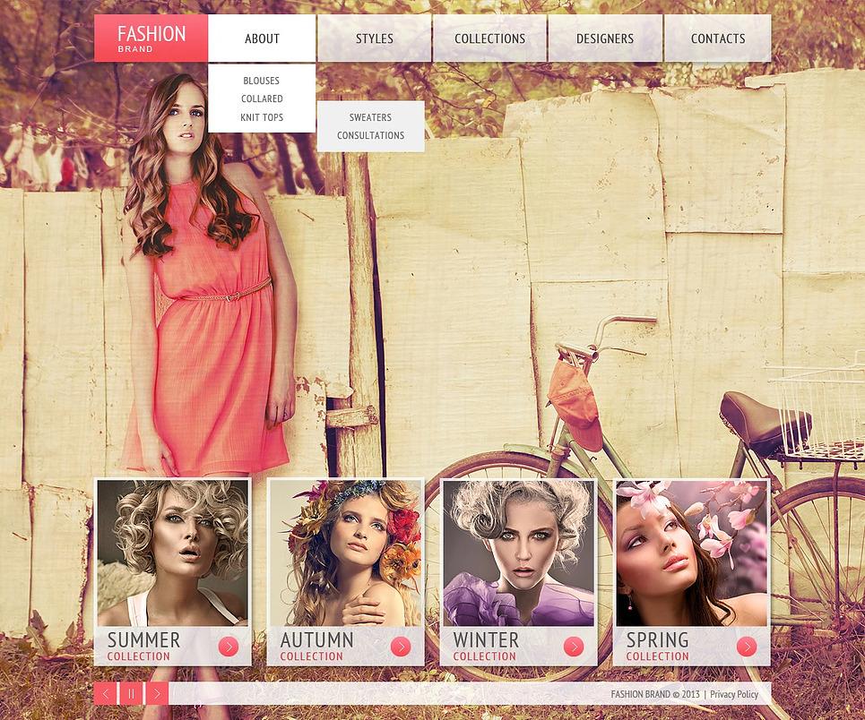 Designers Apparel Website Template