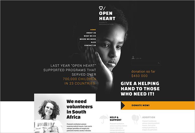 Donation Joomla Template