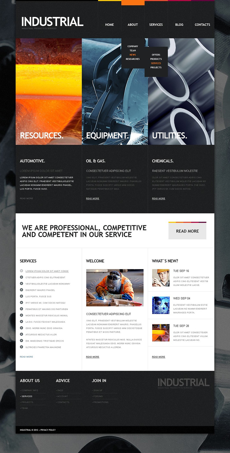 Drupal Industrial Template