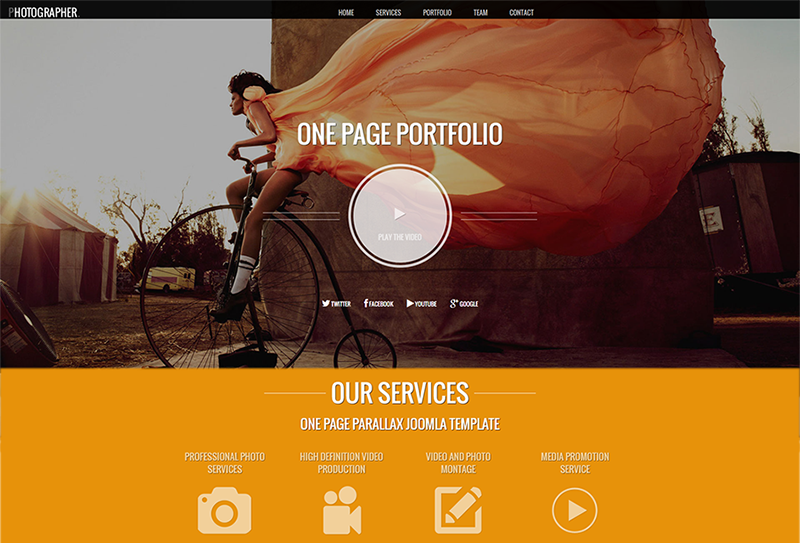 Drupal One Page Portfolio Template