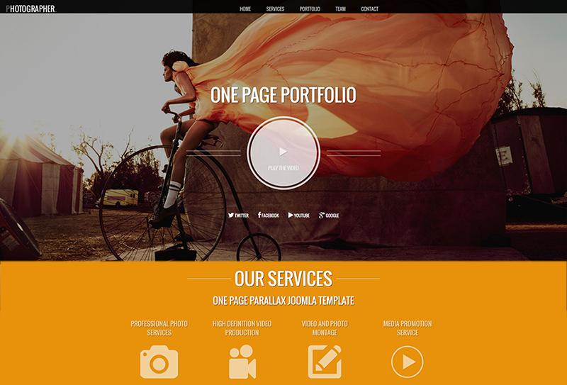 Drupal One Page Portfolio Template
