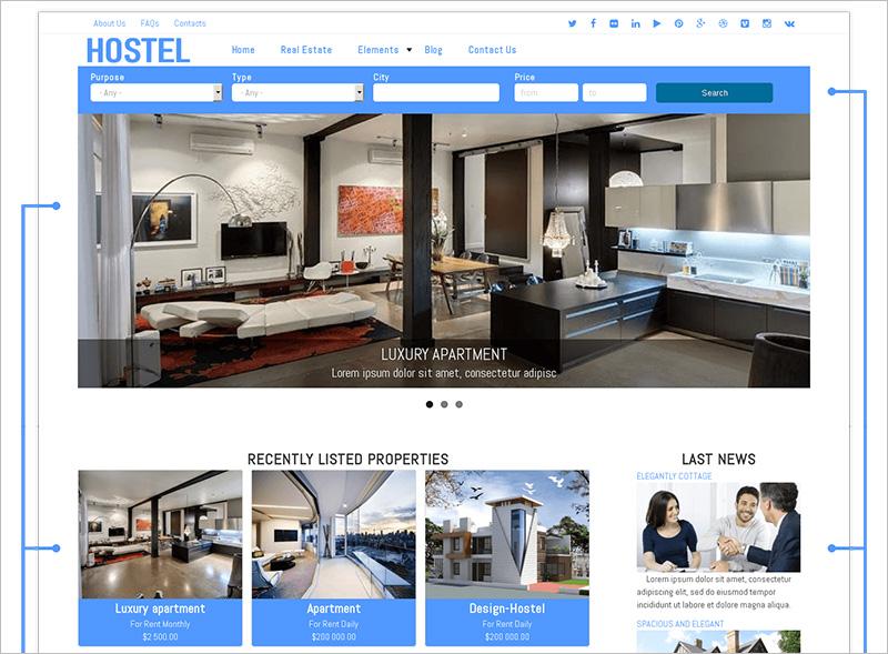 Drupal Real Estate theme