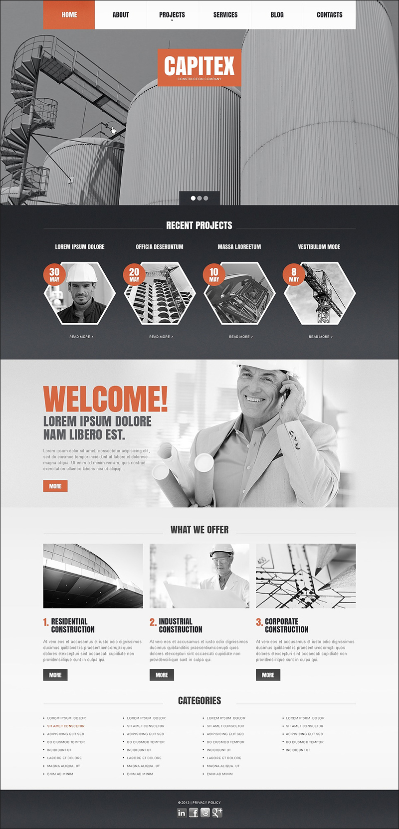 Drupal Theme For Construction Company