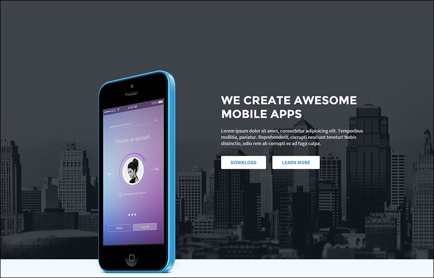 Dynamic Landing Page HTML5 Template