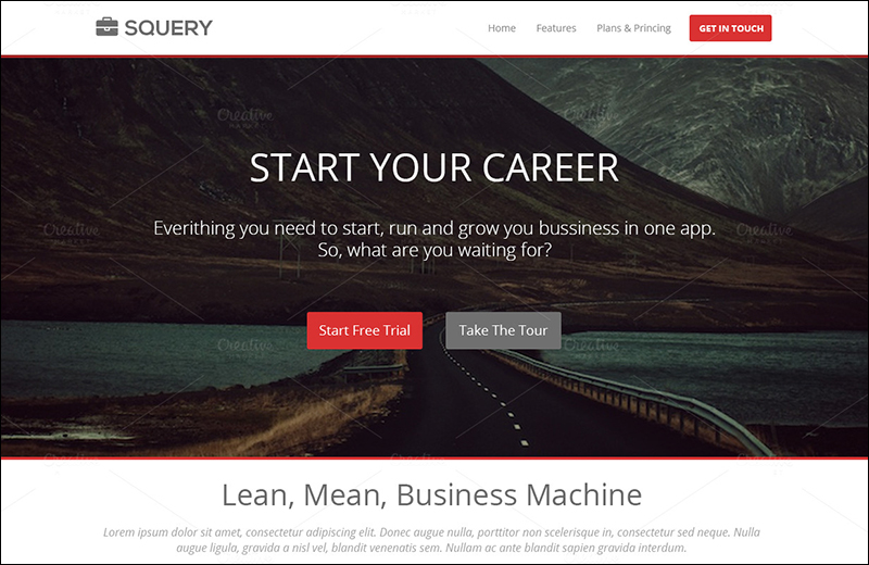 Easily Modified Landing Page PSD