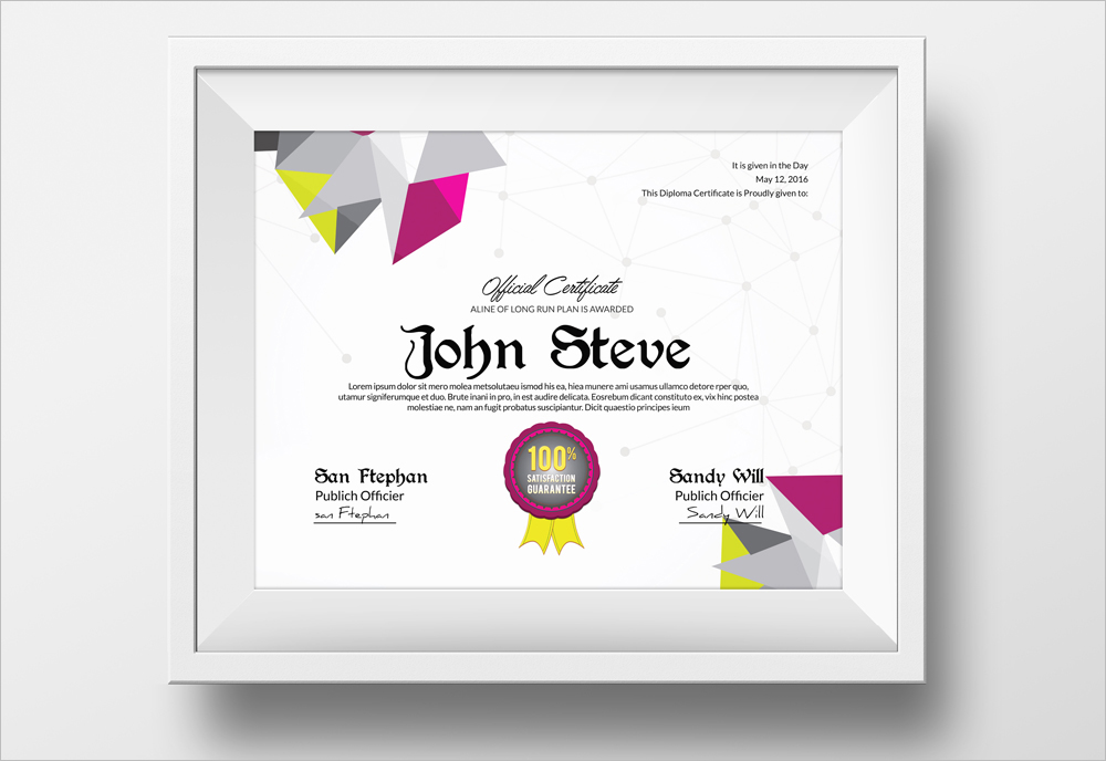Easy Customizable Achievement Certificate