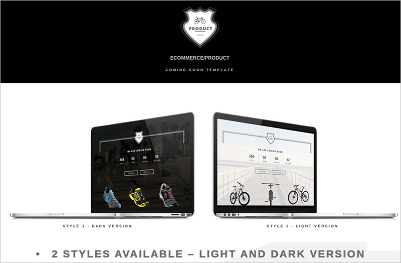 Ecommerce Coming Soon Landing Page Template