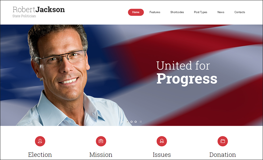 Election Campaign Political WP Theme
