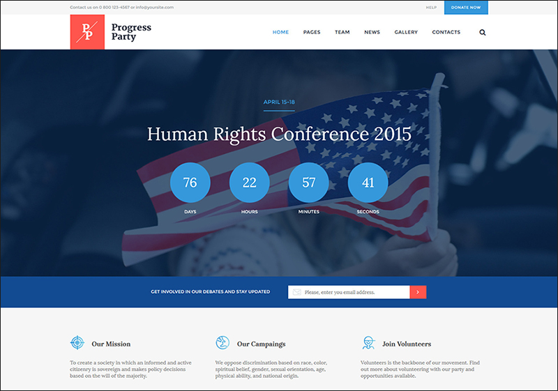 Election Campaigns & Political Party's WP Theme