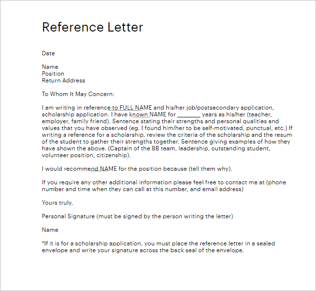 50+ Sample Reference Letter Templates Free Word, PDF, Doc Formats