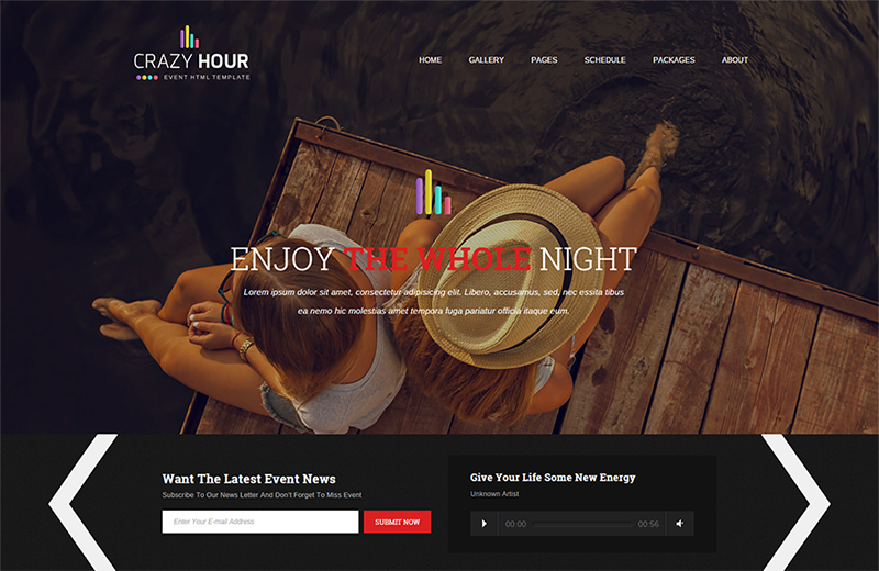 Event Management HTML Template