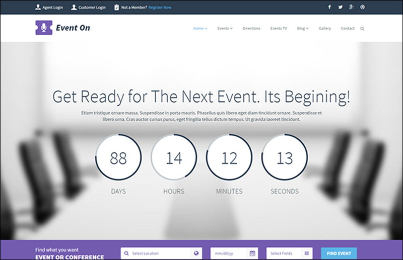 Event Manager HTML Template