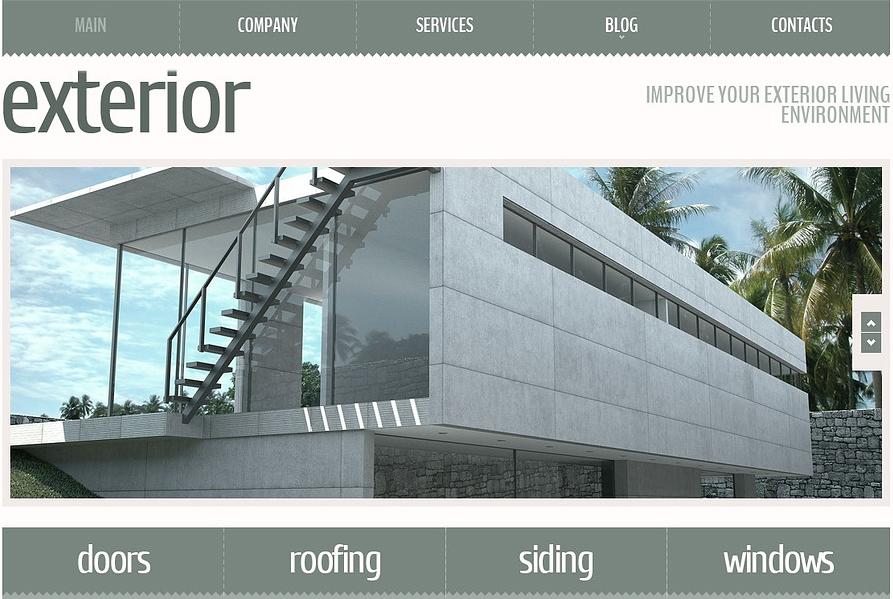 Exterior Design Responsive Joomla Template