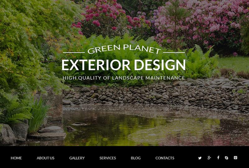 Exterior Design Site Joomla Template