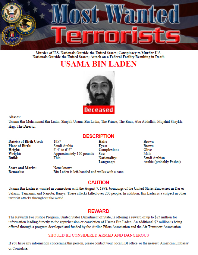 FBI Wanted Poster Template PDF