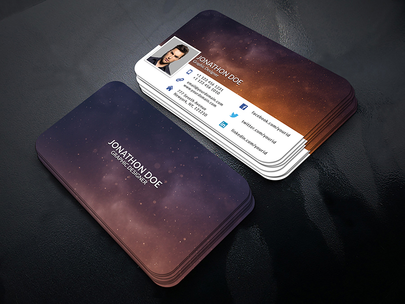 Facebook Timeline Business Card Template