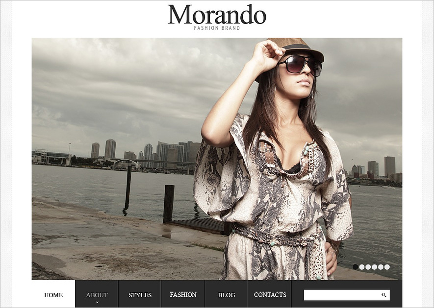 Fashion Brand Online Joomla Template