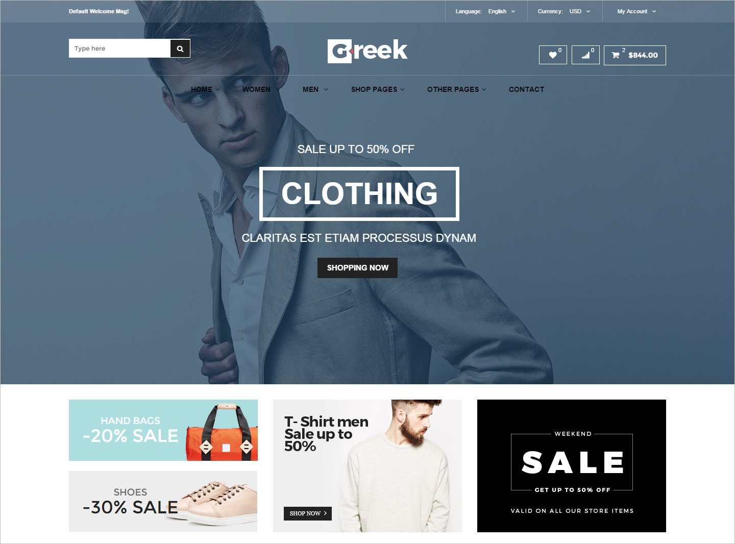 Fashion HTML5 eCommerce Template