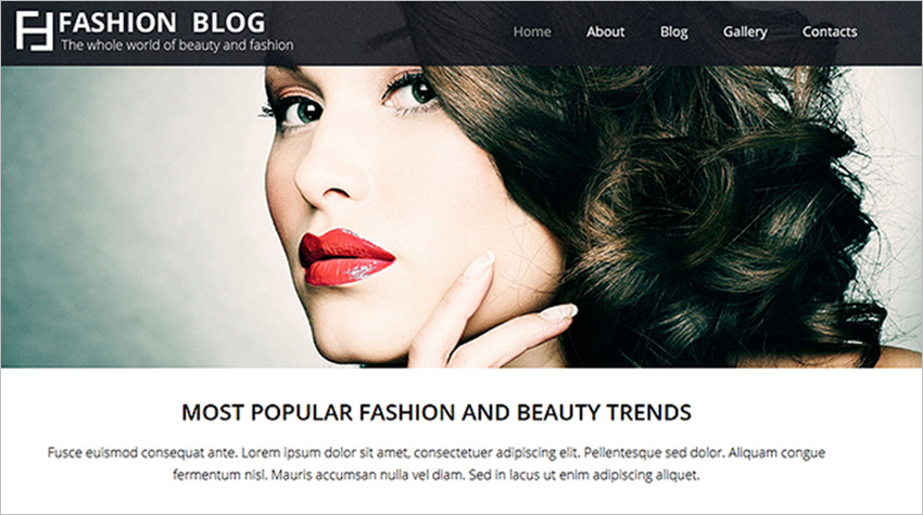 Fashion & Lifestyle Joomla Template