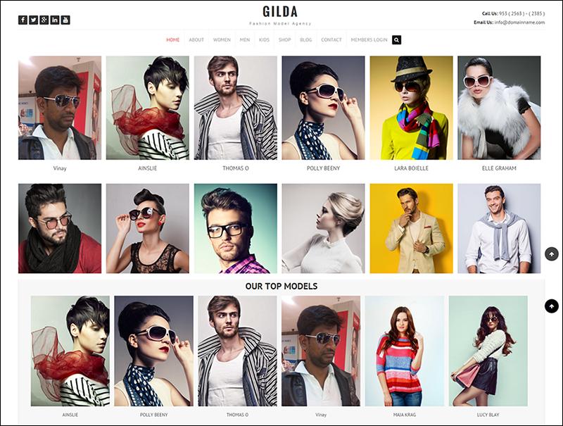 Fashion Model Agency WordPress CMS Theme