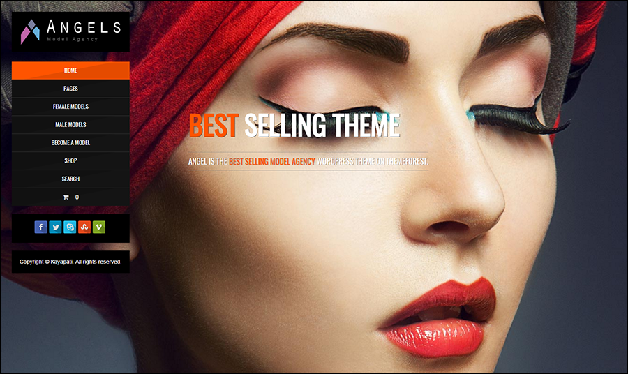 Fashion Model Agency WordPress Them